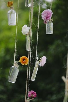 hanging flower decor | Photo by Our Labor of Love, Floral Design by Amy Osaba