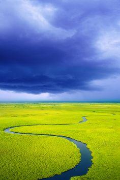 To go on a wildlife safari in the Okavango Delta, Botswana.