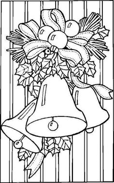 Christmas Coloring Pages - Free Printable Coloring Pages for Kids - Coloring Books Printable Coloring Pages, Colouring Pages, Adult Coloring Pages, Coloring Books, Free Coloring, Coloring Sheets, Christmas Bells, Christmas Colors, Christmas Art