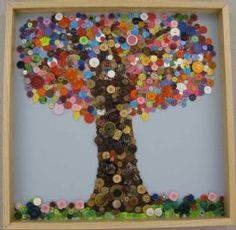 To Do! Get rid of old buttons and create a mosaic mural.