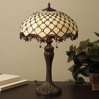 Warehouse of Tiffany TFW9001/14TL 2 Light Style Jewel Roman Table Lamp, Bronze