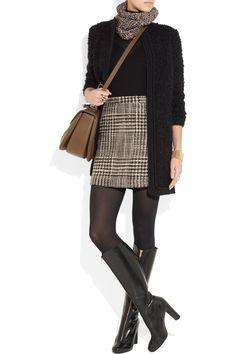 wool-tweed skirt