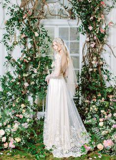 Claire Pettibone Spring Season // Floral wedding dresses inspired by Art Nouveau artist, Alphonse Mucha