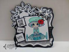 Linette's Creaties: Christmas card using My Besties, Dutch Doobadoo and Joy! Crafts
