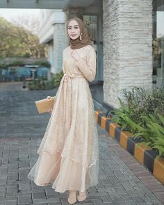 Dress Brokat Muslim, Dress Brokat Modern, Kebaya Modern Dress, Kebaya Dress, Dress Pesta, Muslim Dress, Kebaya Hijab, Kebaya Muslim, Dress Brukat