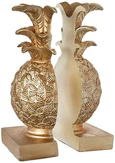Creative Co-op DA7076 Resin Pineapple Bookends with Gold ... https://www.amazon.com/dp/B01L4N7HRK/ref=cm_sw_r_pi_dp_x_vvYPybTSXAQBW