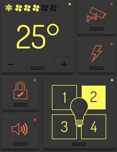 Smart Home by eyal zuri, via Behance