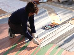 Tracyleestum 3dchalkart  streetpainting streetart ATS Grandesign cadillac  AugmentedReality SharynNamnath, Julio Cesar Jimenez, Christa Percival, Melody Owens, Jon Nelson