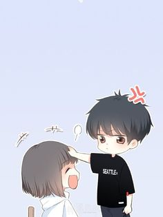 Otaku-Univers is the best place for anime sharing Japanese otaku culture , information, news from all over the world Cute Chibi Couple, Love Cartoon Couple, Cute Love Cartoons, Anime Love Couple, Cute Anime Chibi, Kawaii Chibi, Cute Anime Coupes, Anime Guys, Manga Anime
