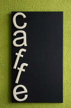 CHALK BOARD CAFFE BAR HANDMADE