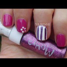 Colaboración Tokedecolor.com Aden 139 Fuchsia--> 2 Euros Easy París 48  Moyra-->05 Two way nail art pen-->3.75 Euros Web: http://www.tokedecolor.com/ Facebook: https://www.facebook.com/pages/Tokedecolorcom/105762219473426 Twitter: https://twitter.com/Tokedecolor #tokedecolor #moyra #aden #nails #nailart #manicure #polish #notd #easyparis #fuchsia #Purple #white #dots