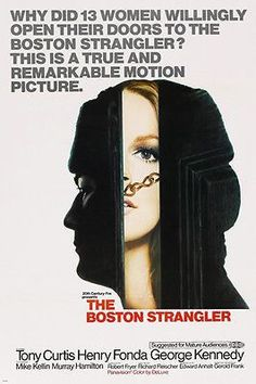 THE BOSTON STRANGLER movie poster TONY CURTIS henry fonda MURDER 24X36