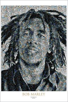 Bob Marley Mosaic 2 | Music | Hardboards | Wall Decor | Plaquemount | Blockmount | Art | Pictures Frames and More | Winnipeg | MB | Canada