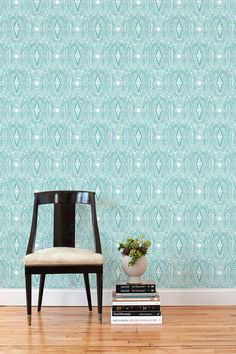 Overview This removable wallpaper tile is designed by Laundry Studio in Portland and printed in Chicago on a matte, polyester wall fabric. Our tiles have a c...