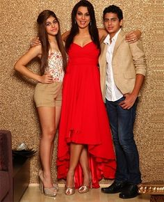 Pooja Bedi with her two children