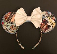 Let's Travel the World Diy Disney Ears, Disney Mickey Ears, Disney Diy, Cute Disney, Disney Stuff, Disney World Trip, Disney Trips, Mouse Ears, Disney Outfits