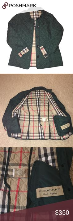 Burberry Ashurst Quilted Jacket Burberry Ashurst Quilted Green Jacket Burberry Jackets & Coats
