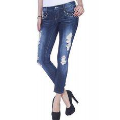 Blugi Dama ONLY Low Coral Anckle Destroy Denim Coral, Skinny Jeans, Denim, Pants, Fashion, Trouser Pants, Moda, La Mode, Women's Pants