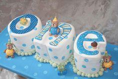 Cakespiration: 29 creative number birthday cakes to make - Birthday Cake Blue Ideen Happy Birthday Cake Hd, Number Birthday Cakes, Baby First Birthday Cake, Birthday Cakes For Boys, 1st Birthday Decorations Boy, Birthday Ideas, Cake Pops, Baby Boy Cakes, Creative Cakes