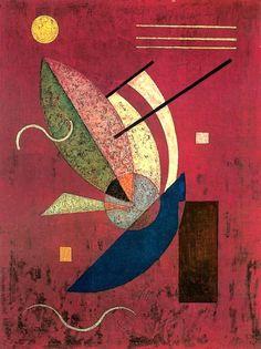 "thunderstruck9: "" Wassily Kandinsky (Russian, 1866-1944), Schwarzes Stäbchen [Black Chopsticks], 1928. Oil on panel, 28 x 20 cm. """