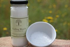 Sore Muscle Cooling Bath Salts, Naturally Vegan, Infused With Organic Essential Oils - pinned by pin4etsy.com
