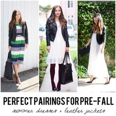 Perfect Pairings for Pre-Fall: Summer Dresses and Leather Jackets