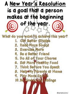 What a better way to talk about the New Year than to let your students make their own New Year's Resolution, or goal!    Student will practice their friendly letter writing skills and will make New Year's resolutions for the coming year. They can write to a friend, parent, or even to themselves! Friendly Letter, New Year's FREEBIE