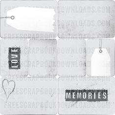 Free Grunge Gray Journaling Cards