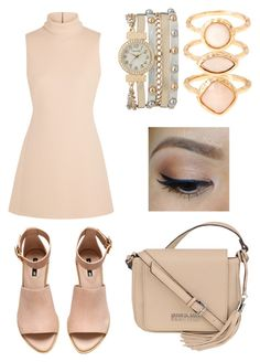 """""""{Beige}"""" by sxrxxrxs ❤ liked on Polyvore featuring Calvin Klein Collection, H&M, Kenneth Cole, maurices and Monsoon"""
