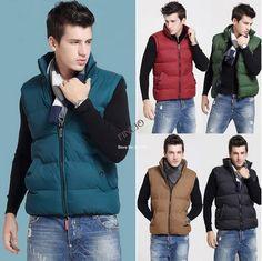 2014 New Men's Fashion Winter Outdoor Down Vests plus size 19147