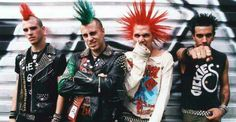"""The Casualties"", Jake with the green hair. I got my son's name from him OI OI OI!!!!"