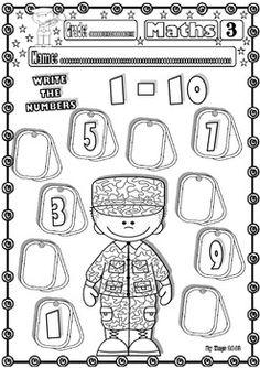 Veteran/Memorial Day Maths Funny Printables for kids | Teaching ...