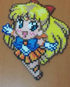 Sailor Moon perler beads by katocardcaptors