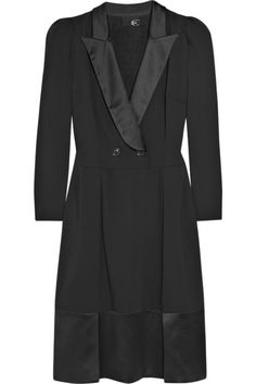 Cavalli Crepe and satin tuxedo dress