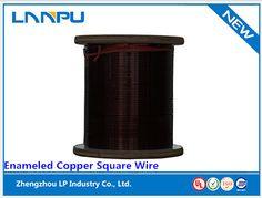 Enameled Square Copper Wire  Diameter: a(b): 0.4-7.0  Temp class: 180, 200, 220  Application: transformer, generator, refrigeration system, class c generators, UPS power supply, electronic transformer.