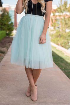 e8f70d9ea120 Tulle midi skirt polar mint from Lush Fashion Lounge Mint Skirt, Pastel  Outfit, Mint