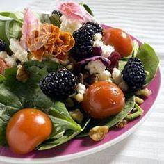 Spinatsalat mit Brombeeren, Sommersalat, lecker, einfach, schnell http://de.allrecipes.com/rezept/719/spinatsalat-mit-brombeeren.aspx
