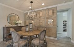 Need a dining room update for fall? Playing with pattern and texture creates an eye-catching effect. | Pulte Homes
