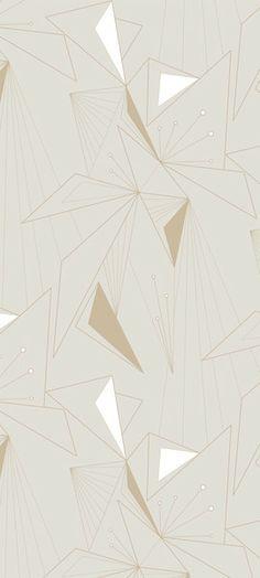 Michele Varian Shop - DecoPrism Wallpaper White Stone