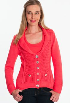 low tide cardigan - Indulge in weekend-style comfort anytime in this cozy, casual cardigan with textural appeal and mixed media bling buttons. Single knit
