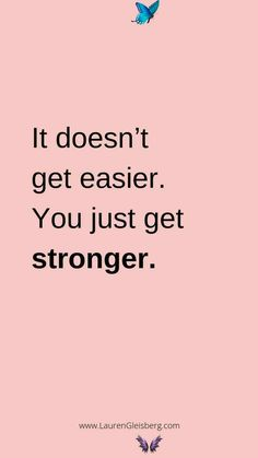 BEST MOTIVATIONAL & INSPIRATIONAL GYM / FITNESS QUOTES - Lauren Gleisberg BEST MOTIVATIONAL & INSPIRATIONAL GYM / FITNESS QUOTES - it doesn't get easier you just get stronger<br> 20 of the best motivational quotes for the gym and to inspire your health and fitness journey. You can download & save these to your phone background! Positive Quotes For Life Encouragement, Positive Quotes For Life Happiness, Yoga Fitness, Health Fitness, Easy Fitness, Fitness Plan, Fitness Exercises, Health Goals, Physical Fitness