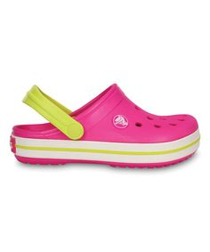 Loving this Neon Magenta & Citrus Crocband Clog on #zulily! #zulilyfinds
