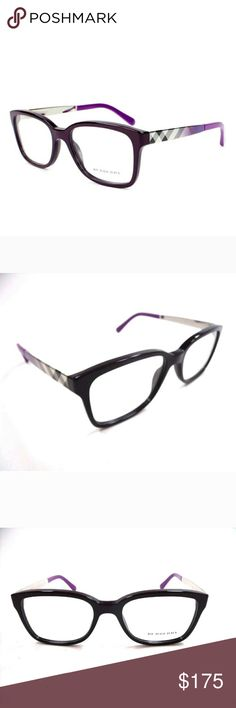 Burberry Eyeglasses New Purple  53-17-140 Case included Burberry  Accessories Glasses