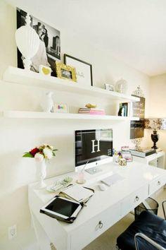 shelves office desk decoration ideas