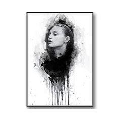Black and White Fashion Art-Akvarell illustration. Fashion tavla och mode poster. Kombinera gärna med andra fashion posters med till ex. citat från Chanel och andra modeikoner eller med Prada tavla, Vogue covers, fashion quotes. Skapa en personlig tavelvägg med fashion känsla.