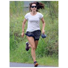 The Princess was spotted jogging along the side of local tourist Cape Bryon Lighthouse.