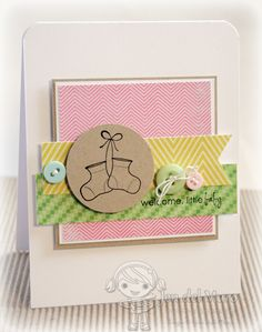 Love this design!  Card by Jen DelMuro from i heart 2 stamp.