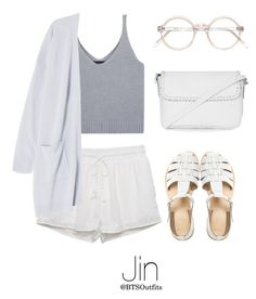 """Spring Outfit with Jin"" by btsoutfits ❤ liked on Polyvore featuring Kendall + Kylie, ASOS and Topshop"