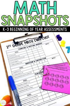 First Grade Assessment, Literacy Assessment, First Grade Curriculum, 1st Grade Math Worksheets, First Grade Math, Second Grade, Grade 3, Guided Math Groups, Go Math
