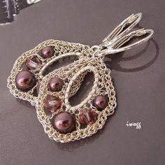 Swarovski pearls and cristals
